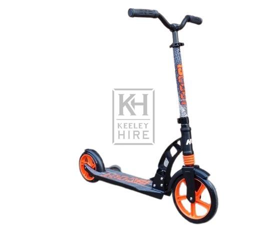 Black & orange adult scooter