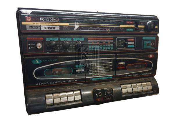 80s double cassette radio