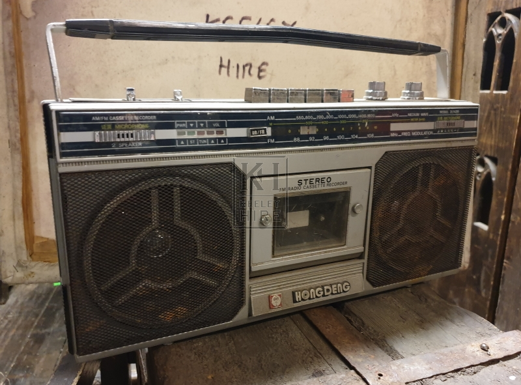 80s single deck radio player