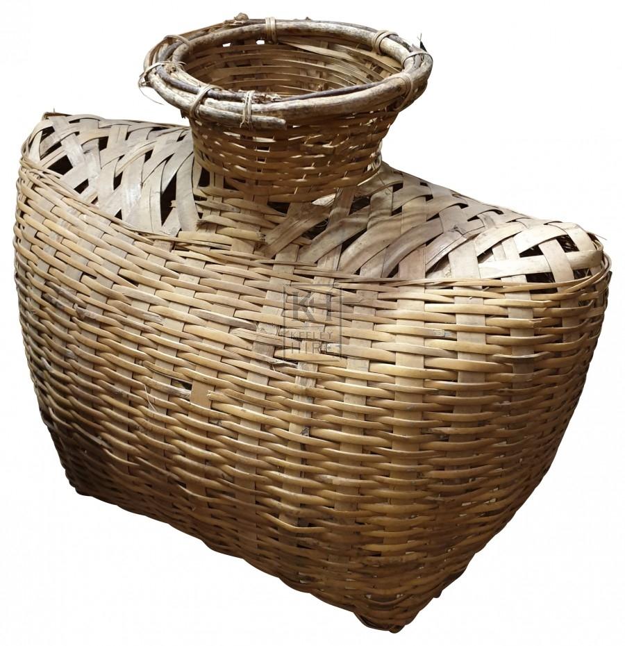 Woven cane bottles