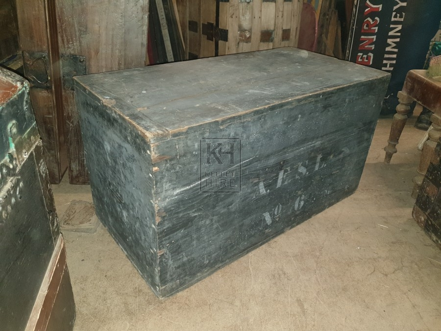 Flat top grey rough chest