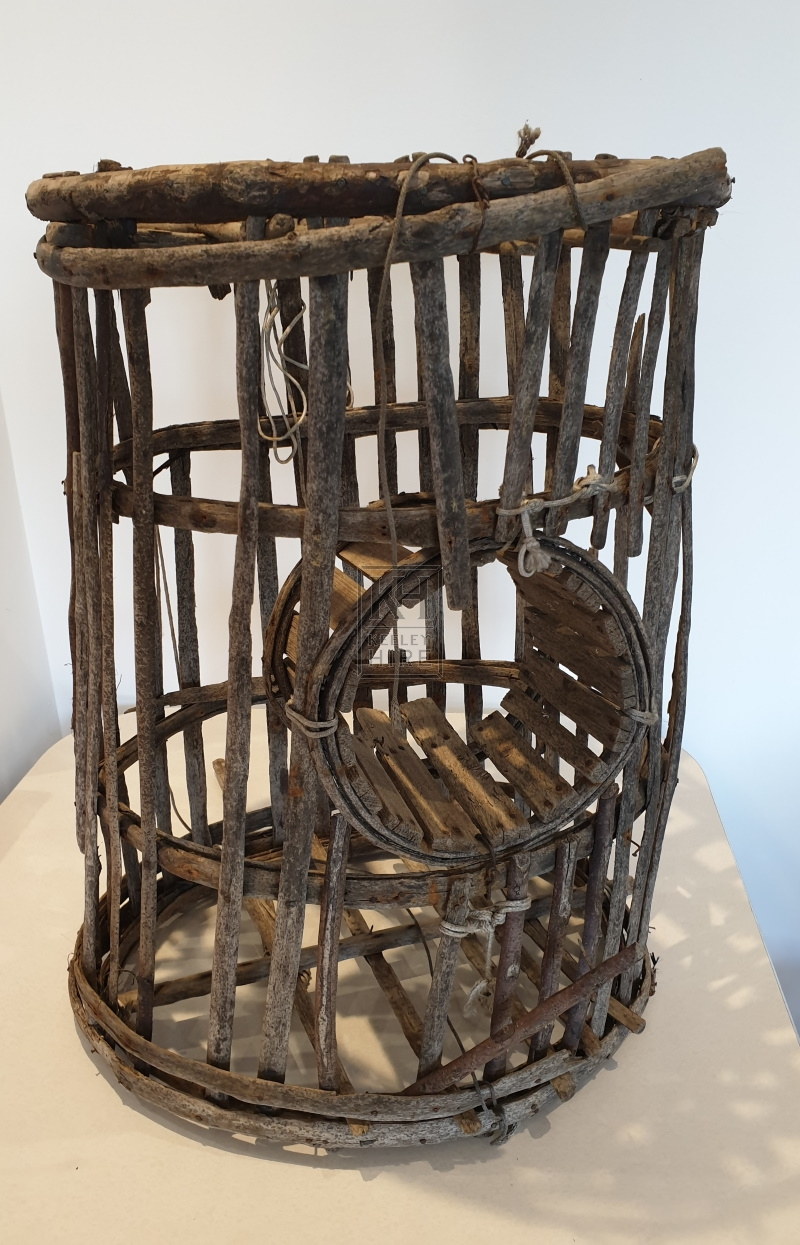 Slatted rustic cage