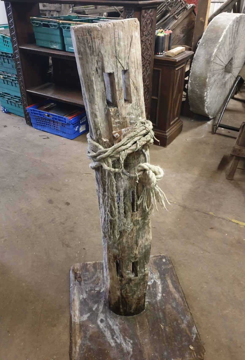 Rough wood post