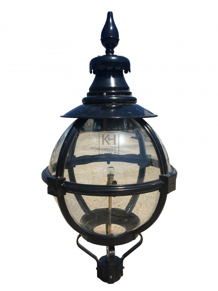Round globe lamp top with point
