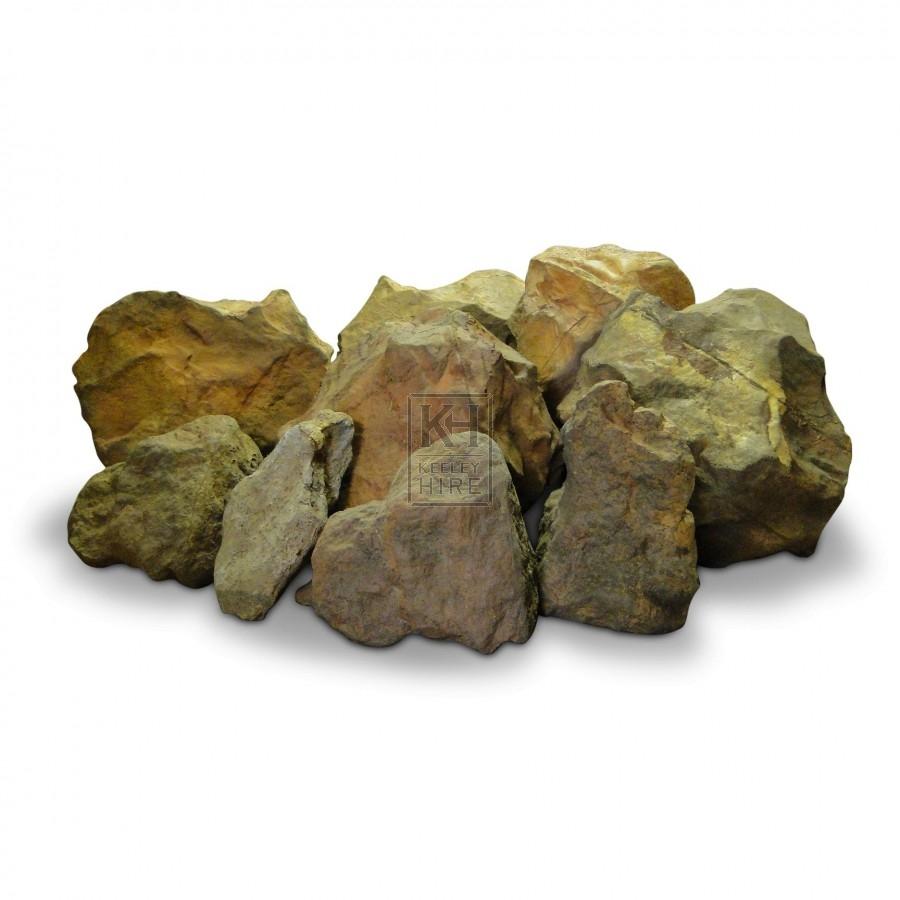 Fake rubber rocks