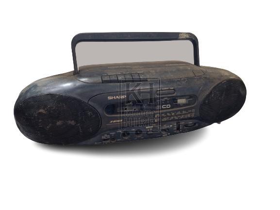 Black cassette radio