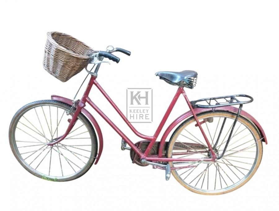 Red burgundy ladies bicycle