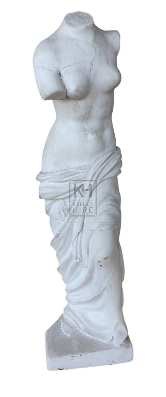 Plaster statue female body