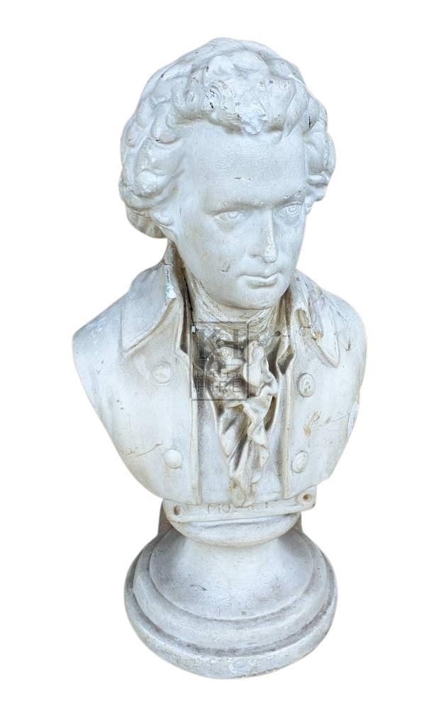 Small plaster bust of Georgan man