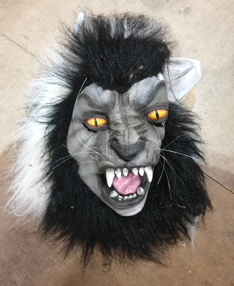 Rubber wolf mask