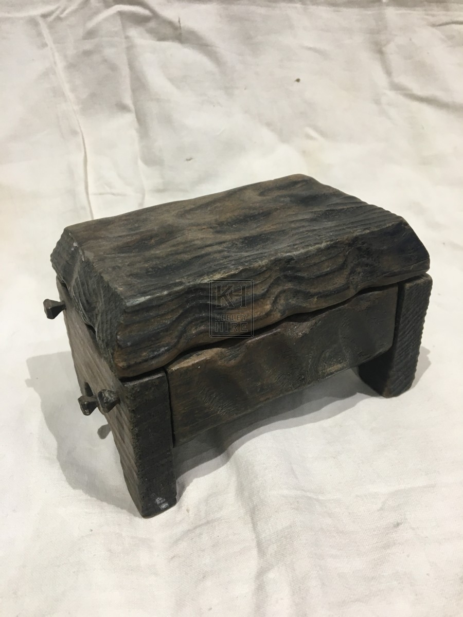 Very Small Hand-Carved Chest