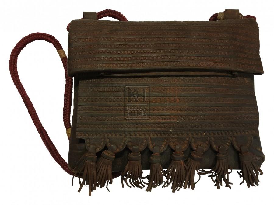 Leather patterned shoulder bag