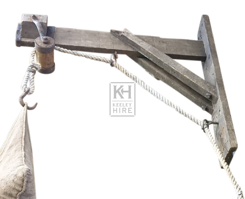 Large wood pulley bracket # 2