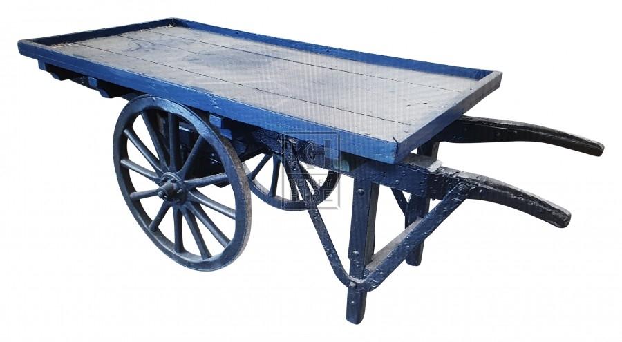 Small flat blue cart