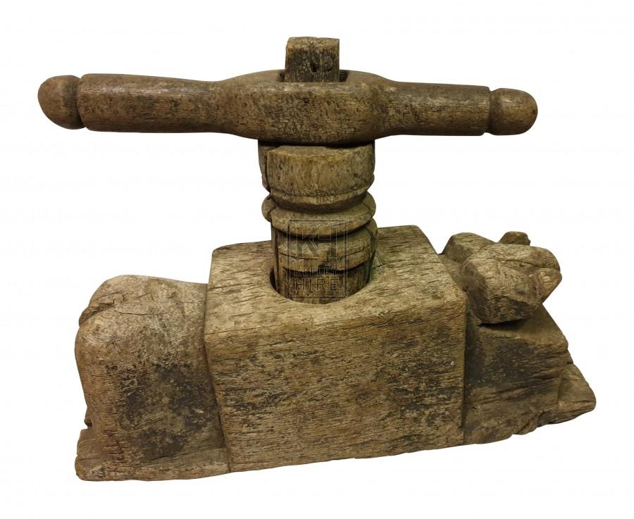 Rustic wood press