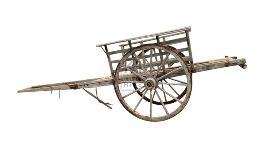 Very large rustic horse cart