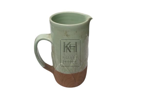 2-tone ceramic jug