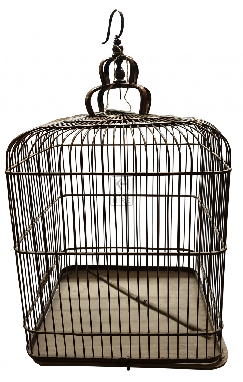 Large square bird cage