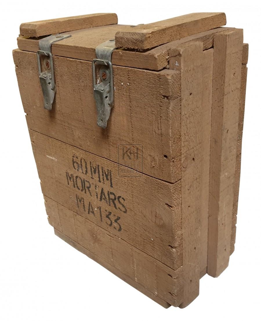 60mm mortar wood crate