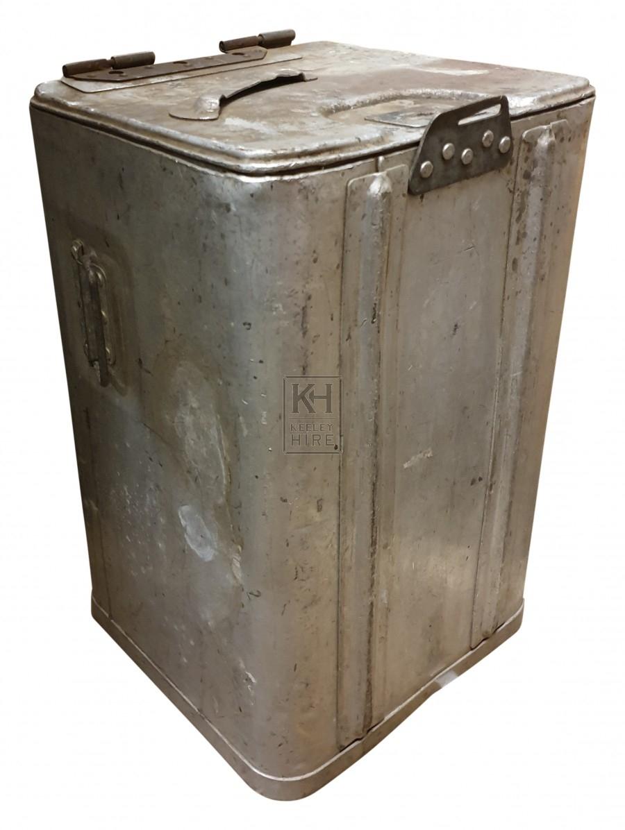 Large metal food tin