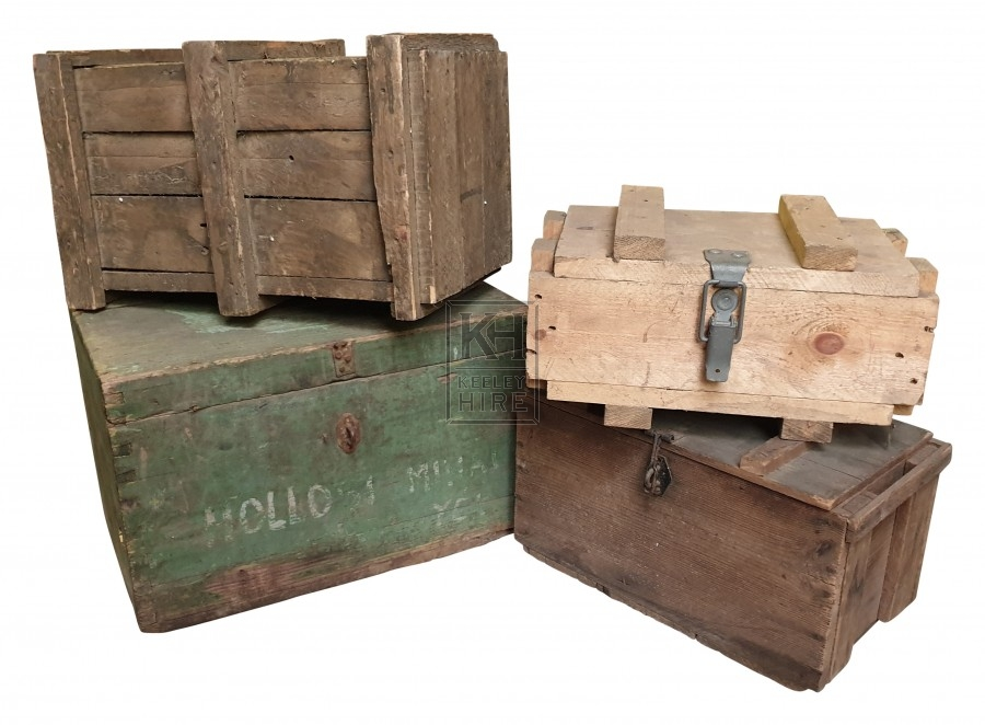 Assorted ammo crates