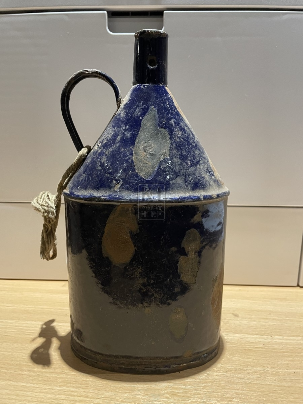 Blue Enamel Water Flask