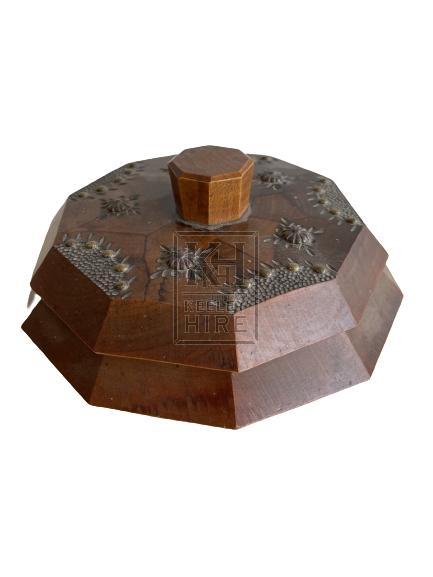 Small Ornate Decagon Container