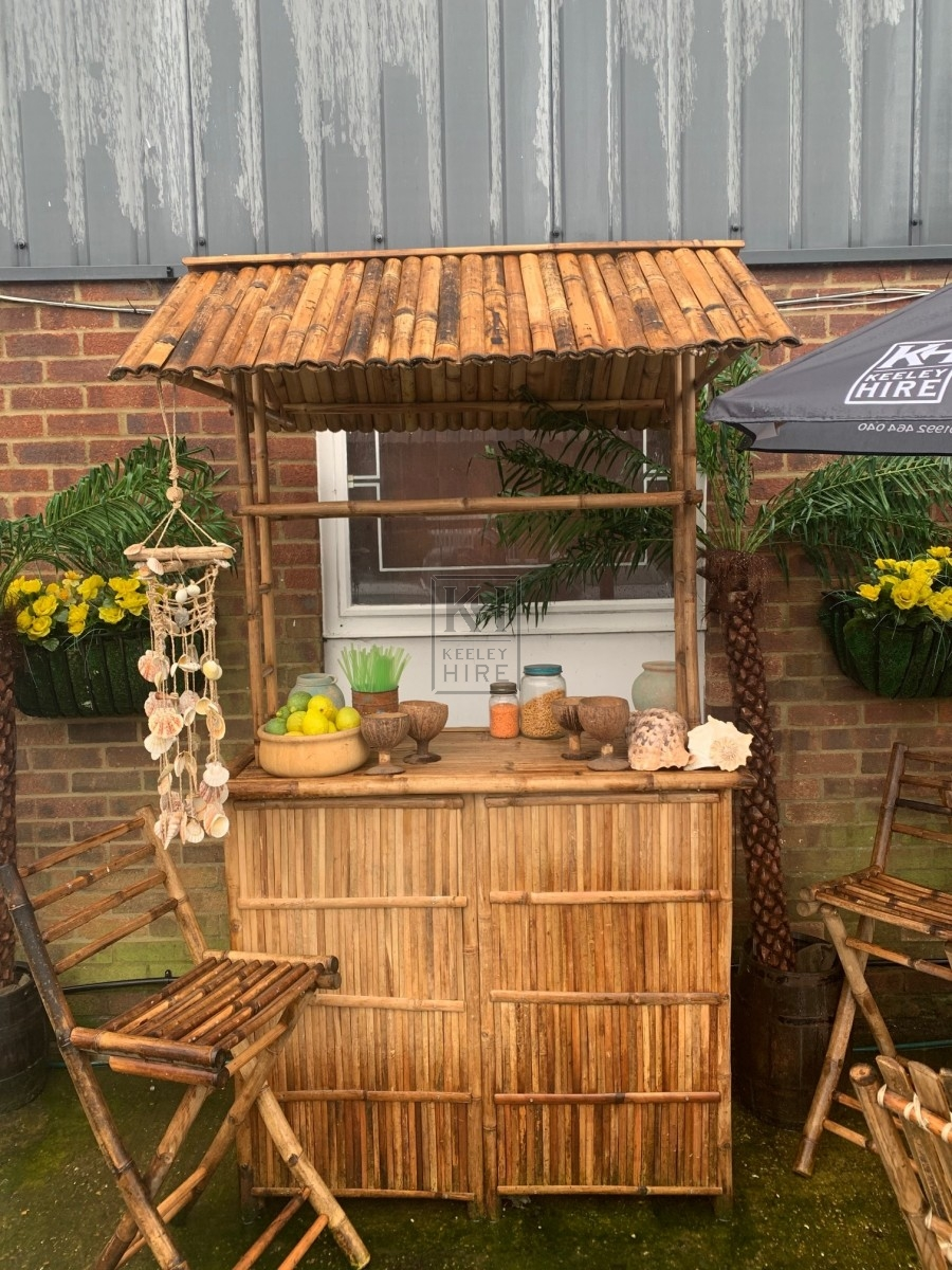 Bamboo Bar with 2 Chairs