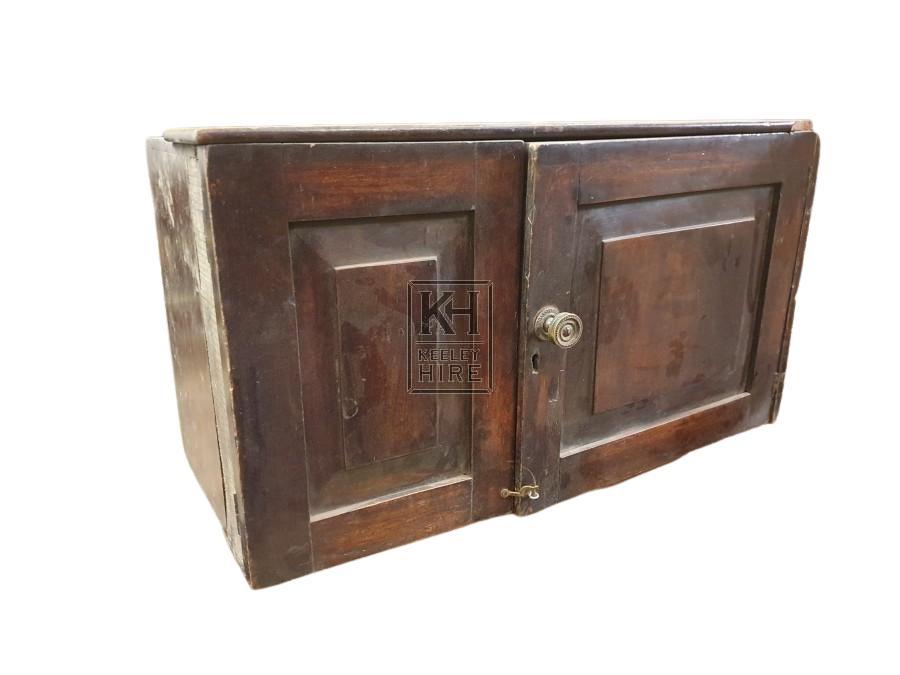 2-door polished wood unit