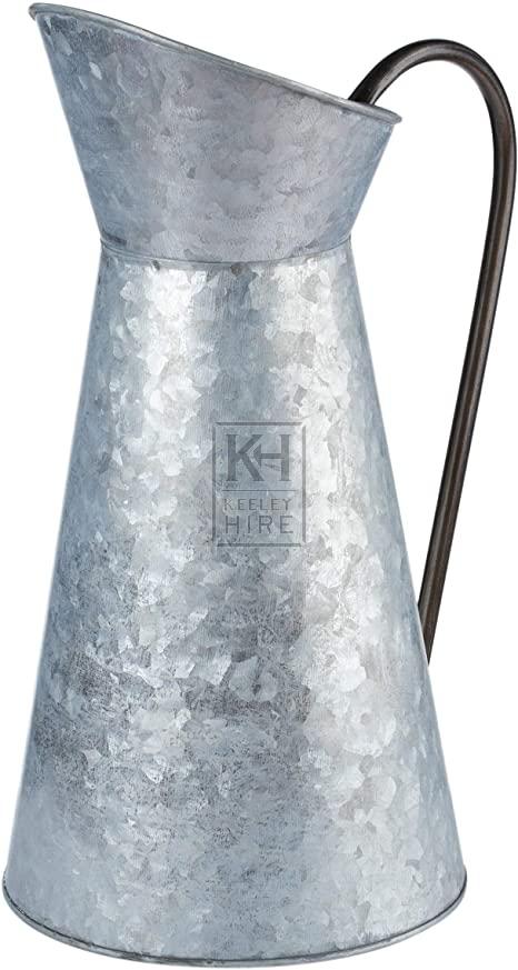 Large galvanized jug