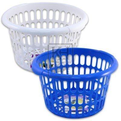 Plastic round laundry basket