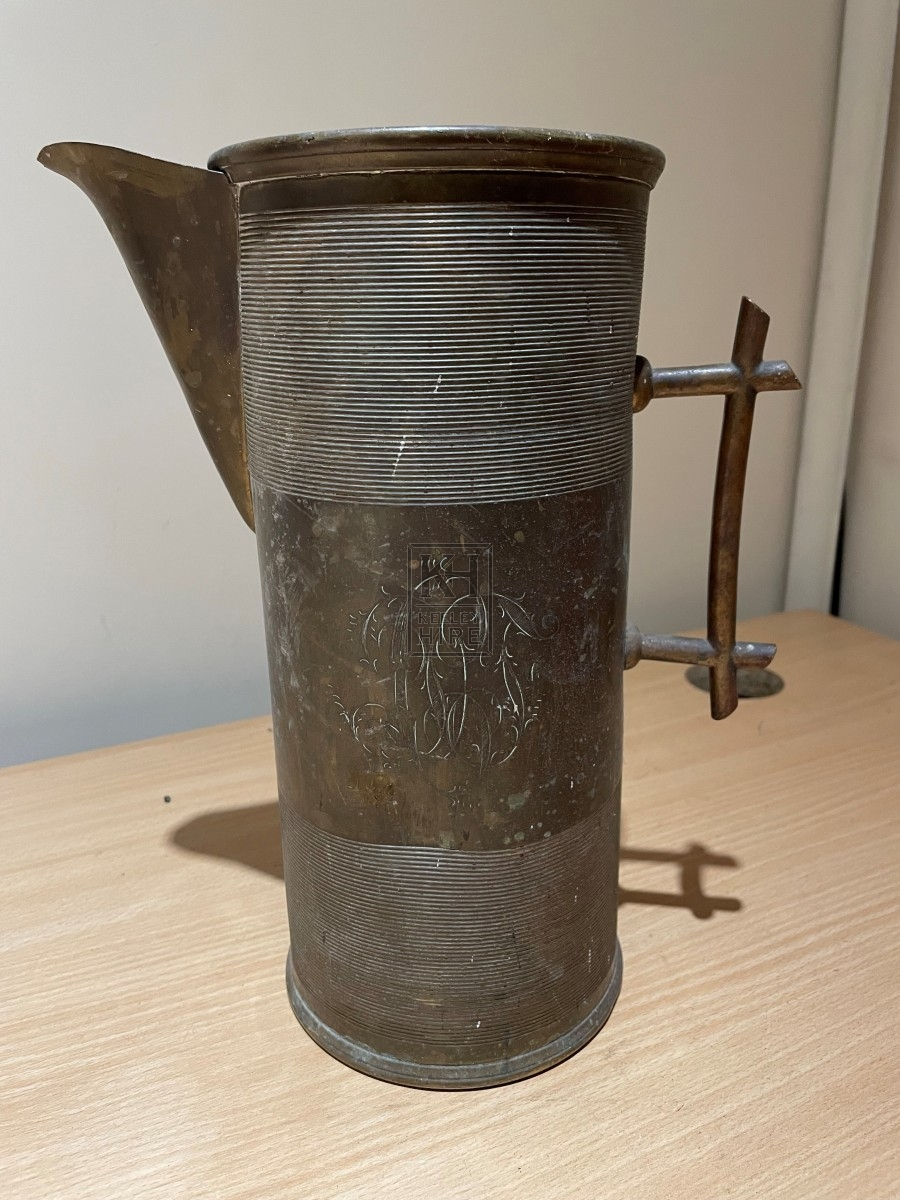 Straight-Sided Copper Jug