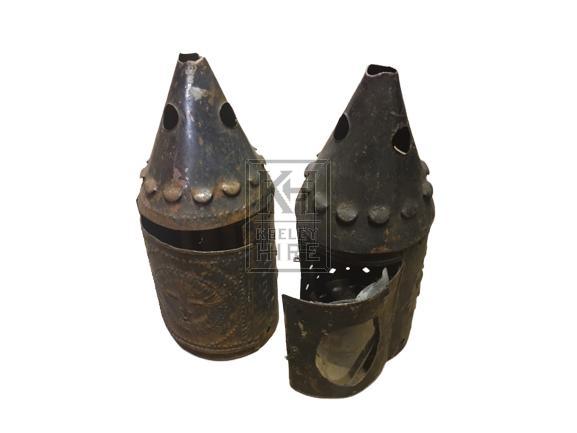 Pointed ornate iron lantern