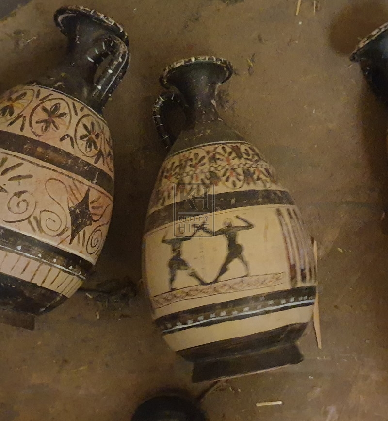 Greek jug with pictures