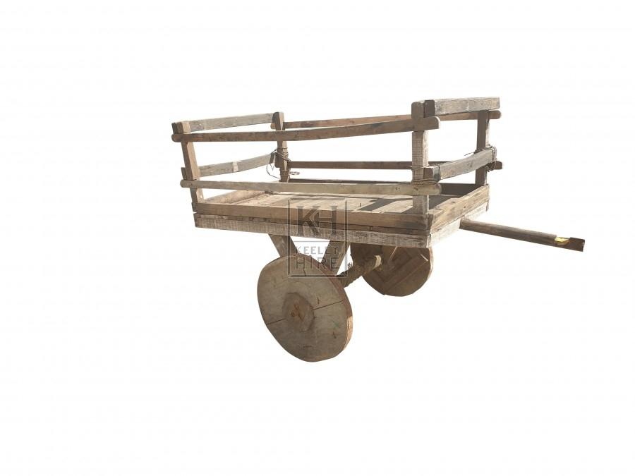 Flat wheel early hand cart
