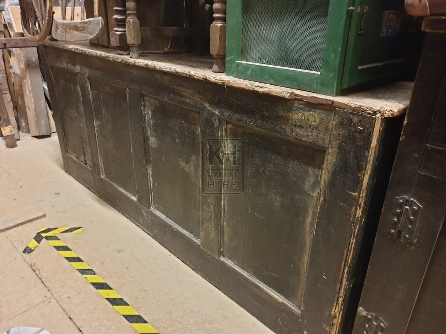Large dark wood counter