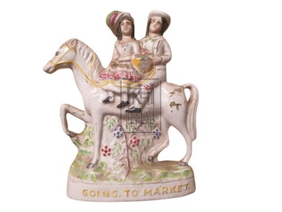 China figures on horse back