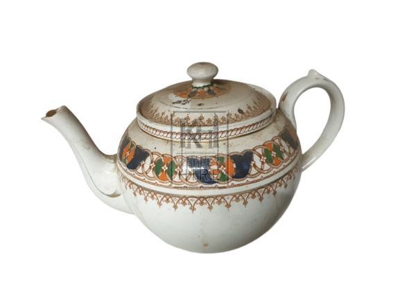 China teapot with circle pattern