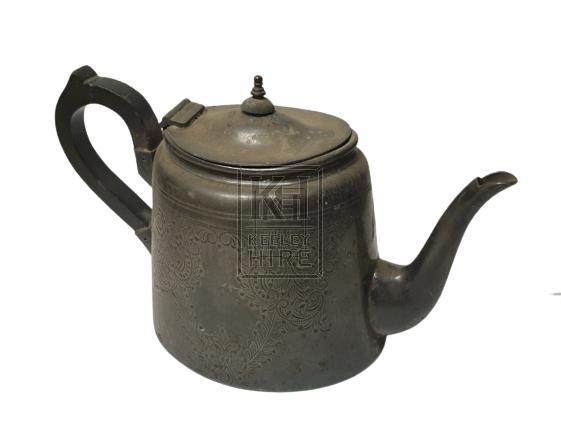 Simple pewter teapot