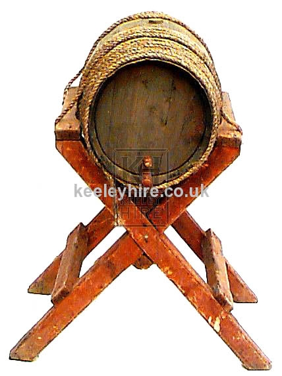 Barrel on Wood X-Frame