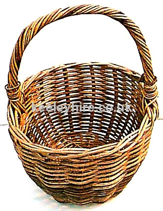 Wicker hand basket