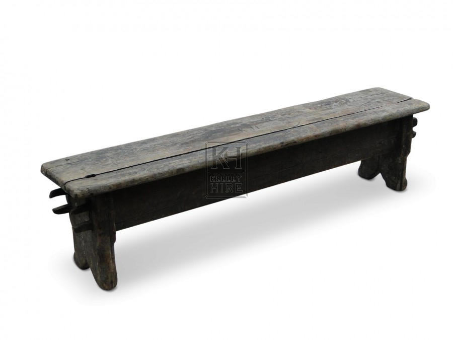 Aged Wooden Rustic Bench