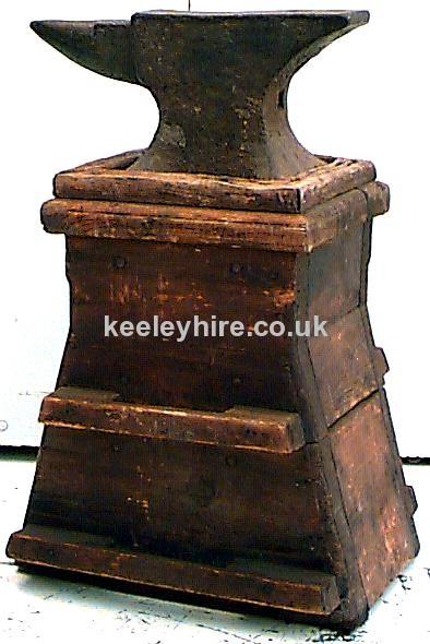 Blacksmiths Anvil On Wood Stand
