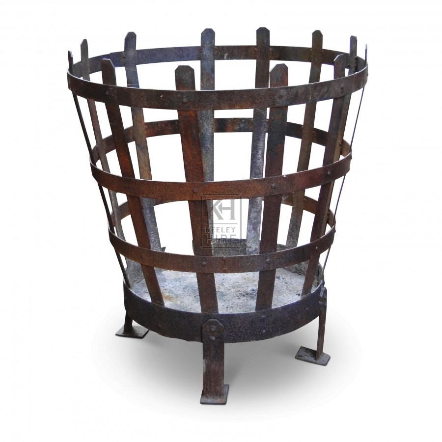 Large Iron Brazier With Low Legs