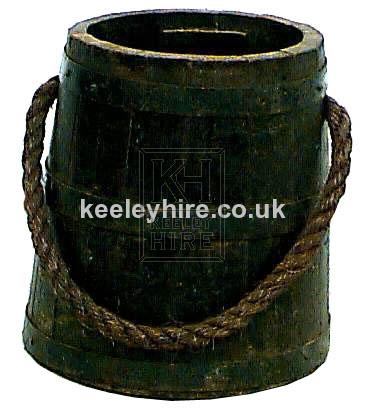Dark Iron Bound Bucket with Rope Handle