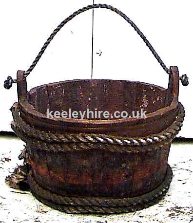 Rope Bound Bucket with Rope Handle #2