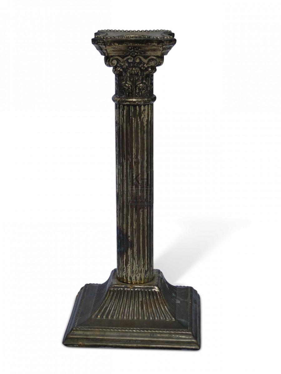 Brass Column Candlestick