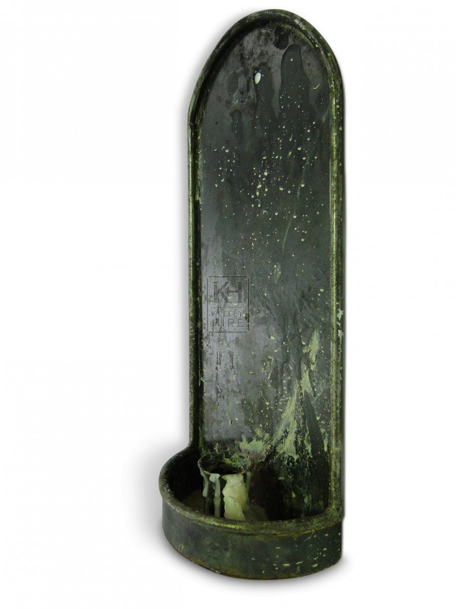 Single Iron Wall Candleholder