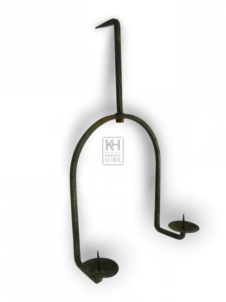 Hanging Iron Candleholder