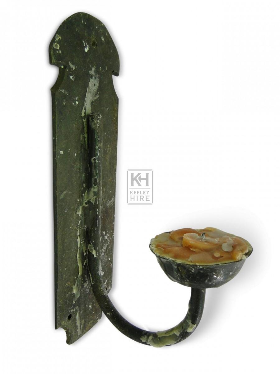 Single Iron Wall Candleholder #7